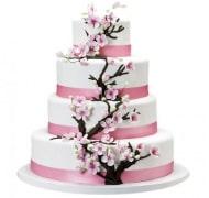 Торт свадебный 4 яруса