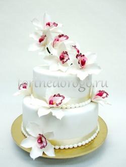 Заказать торт свадебный - Орхидея любви