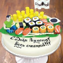 Прикольные торты на день рождения # Суши