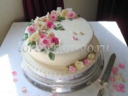 Торт свадебный 1 ярус # 4