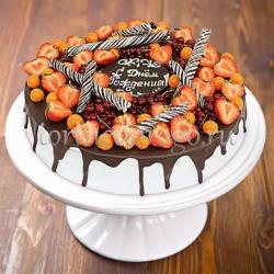 Прикольные торты на день рождения # Клубничка