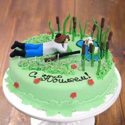Прикольные торты на день рождения # Охотник в камышах