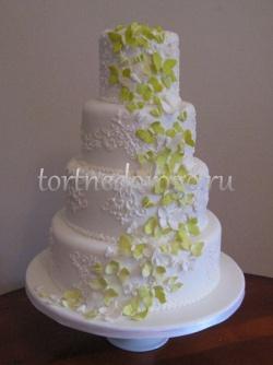 Торт свадебный 4 яруса № 4