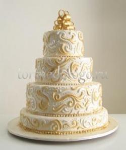 Торт свадебный 4 яруса № 8