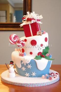 Торт на новый год #11