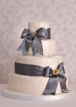 Торт свадебный 4 яруса № 16