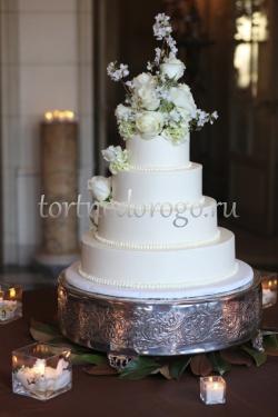 Торт свадебный 4 яруса № 10