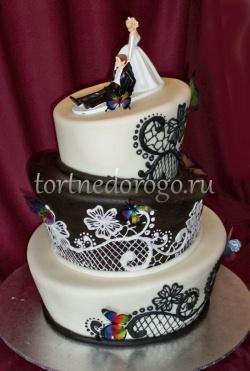Прикольные торты на свадьбу # 28