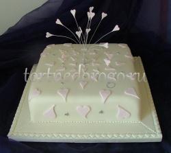 Торты свадебные 1 ярус # 14