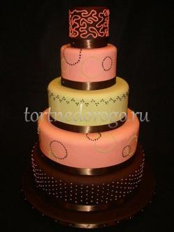 Торт свадебный 5 ярусов # 3