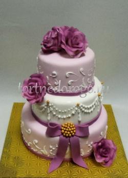 Торт свадебный 3 яруса # Нити
