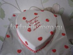 Торт на 14 февраля #4
