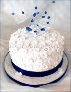 Торты свадебные 1 ярус # 25
