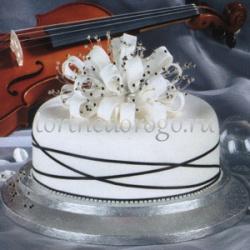 Торты свадебные 1 ярус # 26