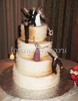 Прикольные торты на свадьбу # 12