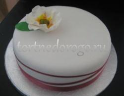 Торты свадебные 1 ярус # 15
