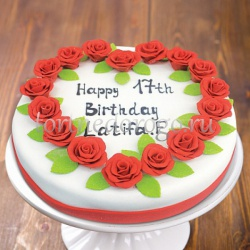 Прикольные торты на день рождения # Сердце