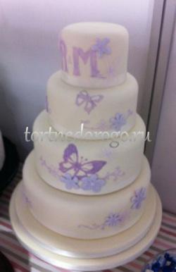 Торт свадебный 4 яруса № 11