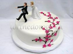 Торты свадебные 1 ярус # Веселье