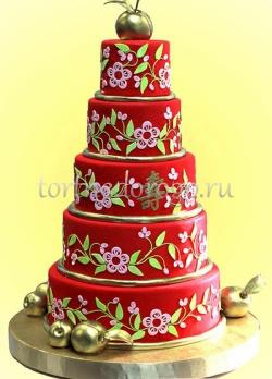 Торт свадебный 5 ярусов # 10