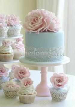 Торты с капкейками и мини пирожными # 28