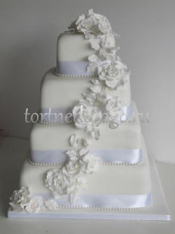 Торт свадебный 4 яруса № 12