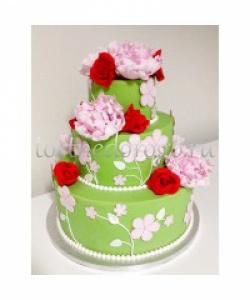 Торт свадебный 3 яруса # Торт Сказка