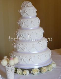 Торт свадебный 5 ярусов # 20