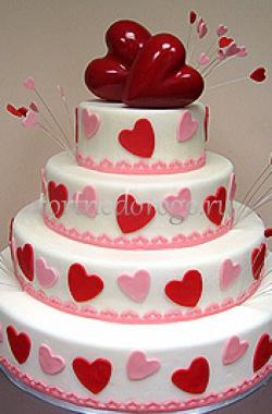 Торт на 14 февраля #5