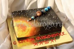 Прикольные торты на день рождения # Космос