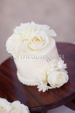 Торты свадебные 1 ярус # 28