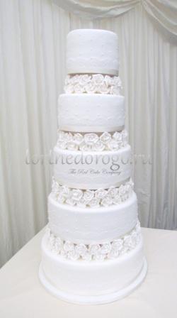 Торт свадебный 5 ярусов # 11