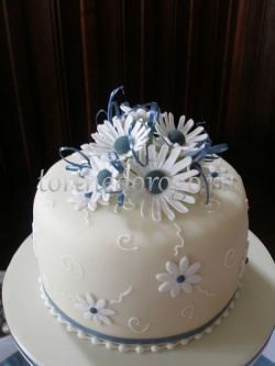 Торты свадебные 1 ярус # 17