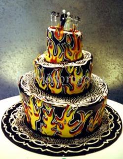 Прикольные торты на свадьбу # 17