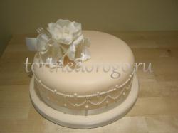 Торты свадебные 1 ярус # 8