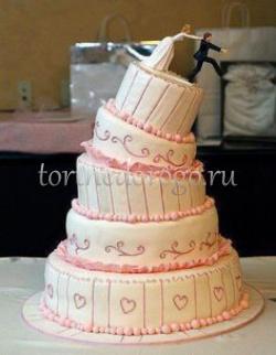 Прикольные торты на свадьбу # 20