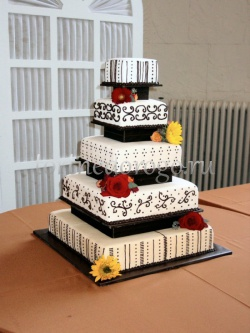 Торт свадебный 5 ярусов # 7