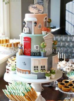 Прикольные торты на свадьбу # 32