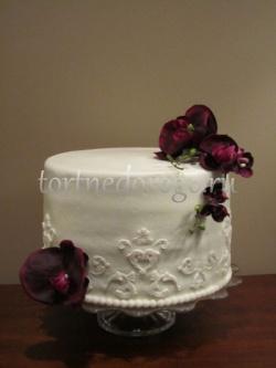 Торты свадебные 1 ярус # 9