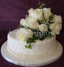 Торты свадебные 1 ярус # 10