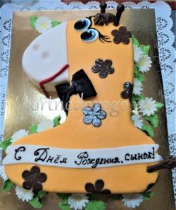Торт детский цифра # Торт жираф