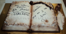 Торт для мужа # Книга в развороте