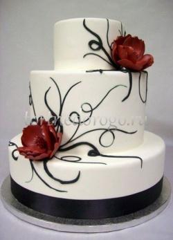 Торт свадебный 3 яруса # Престиж