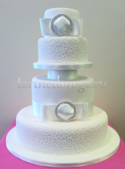 Торт свадебный 4 яруса № 2