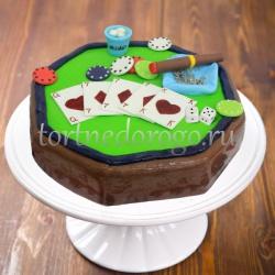 Прикольные торты на день рождения # Покер
