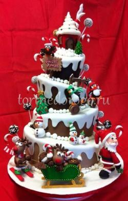 Торт на новый год #32