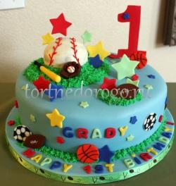 Детский торт # Торт с мячом