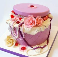 Торт для жены # Шкатулка с цветами