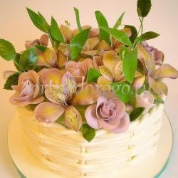 Торт для жены # Корзина цветов