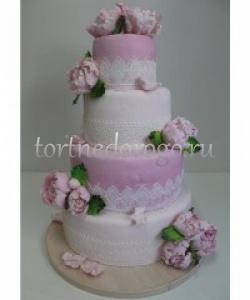 Торт свадебный 3 яруса # Венеция